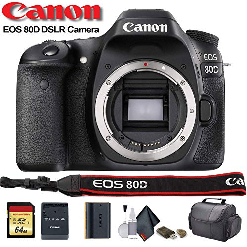 Canon EOS 80D DSLR Camera (1263C004) – Starter Bundle