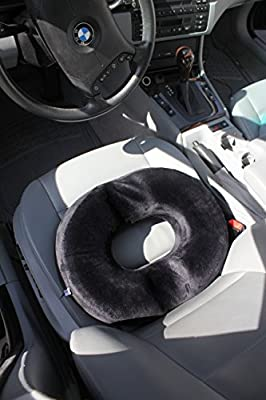 Chesna Donut Tailbone Seat Cushion for Hemorrhoid Treatment Prostate Post-Surgery Relief Pregnancy Pillow Orthopedic Lift Cushion Made of Premium Comfort Foam for Home Work or Car, Black