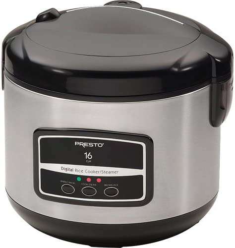 Presto 05813 16-Cup Digital Stainless Steel Rice Cooker Steamer