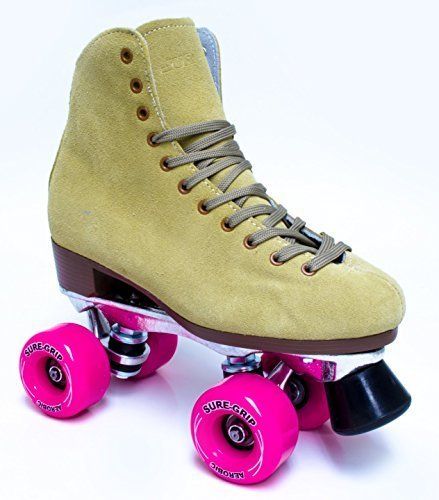 Sure-Grip 1300 Tan suede roller skates