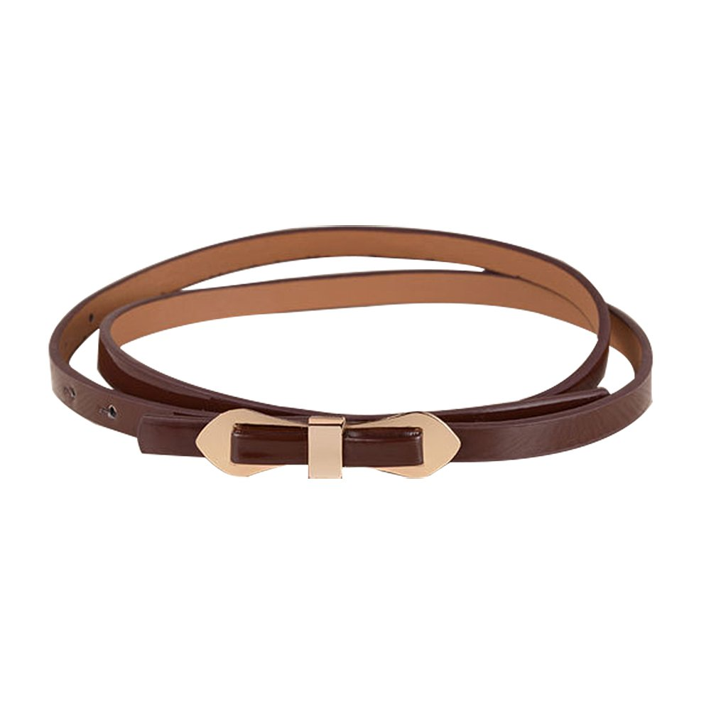 TOOGOO(R) Coffee Cute Slender Candy Color Bowknot Layered Waist Slender Belt For Women 102*1cm