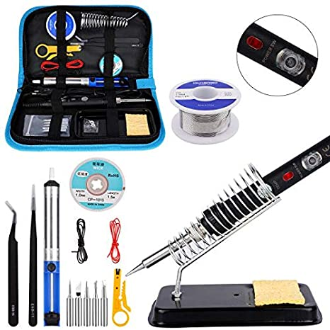 Ockered Wood Tool with Adjustable On-Off Switch Control Temperature 150~450 ℃ Professional Wood Burning Pen DIY Various Wooden Kits Carving//Embossing//Soldering Tips 52 PCS Wood Burning Kit