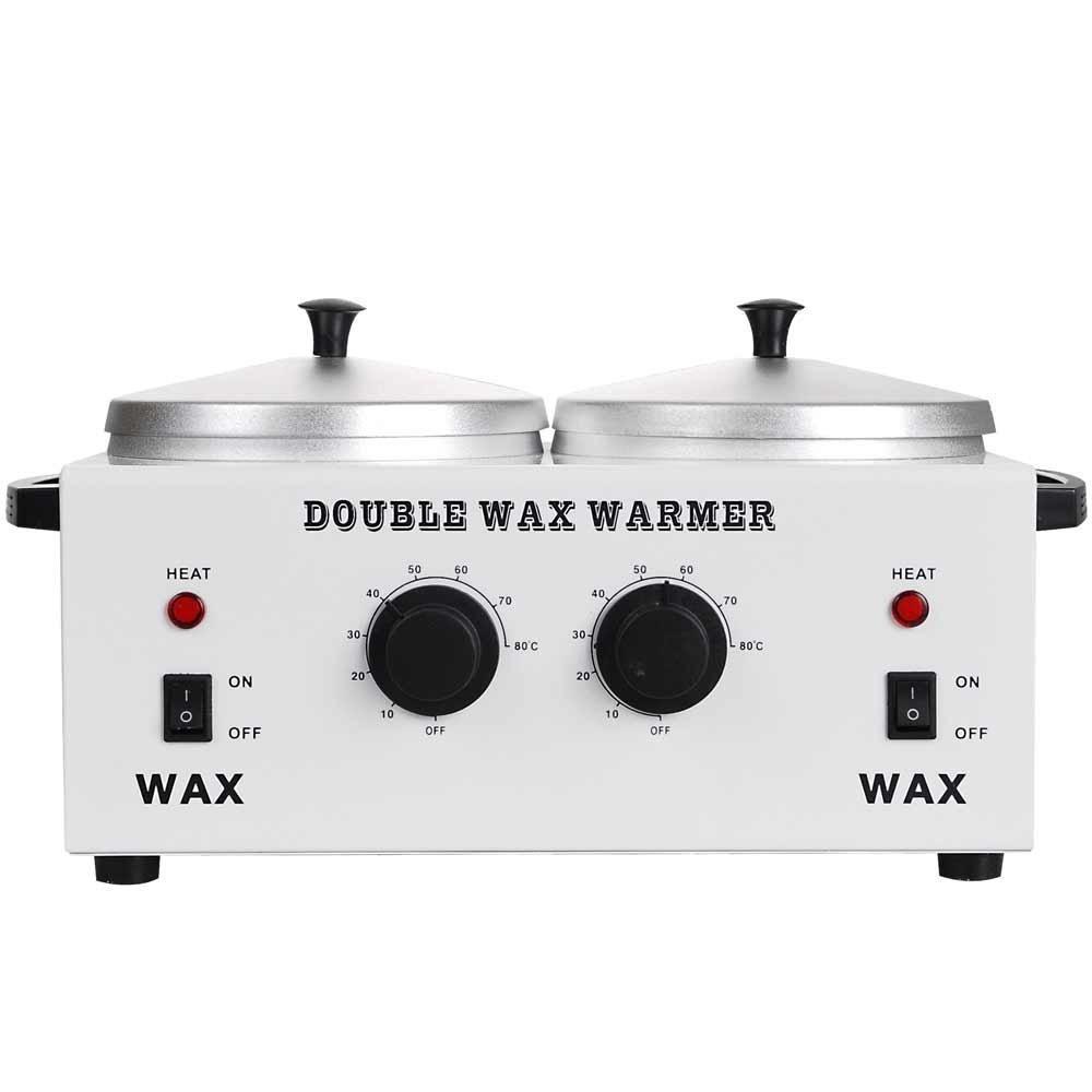 Double Wax Heater Warmer Spa Body Facial Waxing UNITECH UTP12WHT002-2POT-07