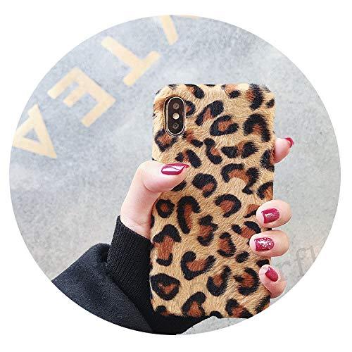 Leopard Print Plush Fur Phone Cases for Huawei P20 Lite Mate 20 10 P20 Pro  Honor 8X 7C Pro 10 V10 Soft Case Y9 2019 Nova 3I 3,1,Global Honor 7C 5 99