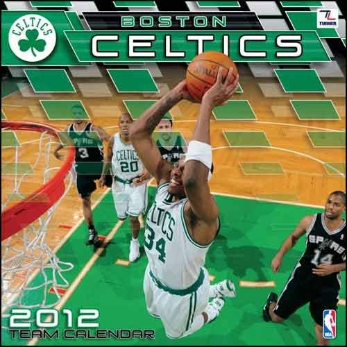 John F. Turner Boston Celtics 2012 Wall Calendar - 12X12 by John F. Turner