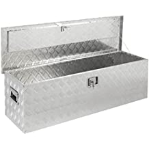 """Best Choice Products 49"""" Aluminum Camper Tool Box W/ Lock Pickup Truck Bed ATV Trailer Storage"""