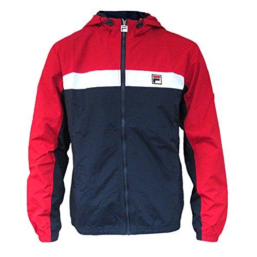 Fila Vintage Men's Clipper Panelled Jacket, Blue, Small ()