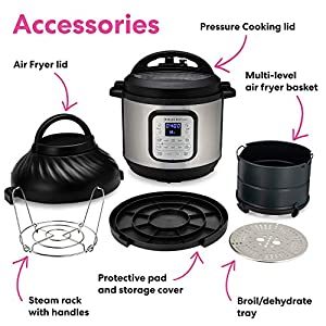 Instant-Pot-Air-Fryer-EPC-Combo-8QT-Electronic-Pressure-Cooker-8-QT-BlackStainless-Steel