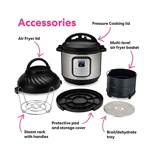 Instant Pot Duo Crisp Pressure Cooker 11 in 1, 8 Qt with Air Fryer, Roast, Bake, Dehydrate and more 6