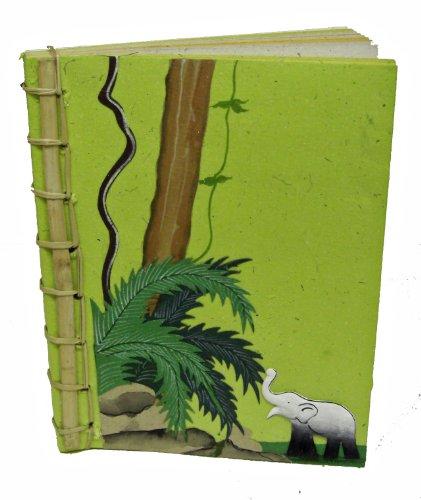 Mr. Ellie Pooh Poo Paper Bamboo Spine Notebook, Light Gre...