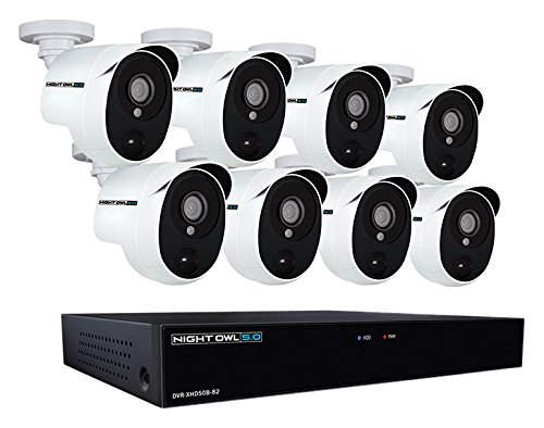 Night Owl XHD502-88P-B 8 Channel 5MP Extreme HD Video Security DVR & Wired Infrared Cameras with 2 TB HDD, White]()