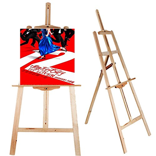 thebestshop99 Hot Wood Wooden Sketch Easel Artist Painter Stand Lyre Floor Tripod Drawing Picture Holder Display ()