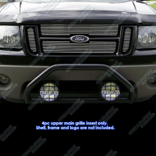 APS Fits 01-06 Ford Explorer Sport Trac Main Upper Billet Grille Insert #F65323A