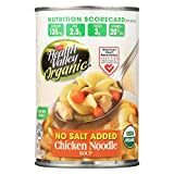 Health Valley Natural Foods, Organic No Salt Chicken Noodle Soup, Pack of 12, Size - 14.5 OZ, Quantity - 1 Case