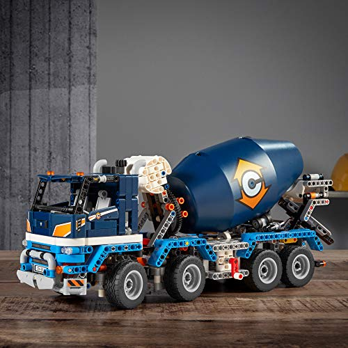 LEGO Technic Concrete Mixer Truck 42112 Building Kit, Kids Will Love Bringing The Construction Site to Life with This Cool Concrete Truck Toy Model Set, New 2020 (1,163 Pieces)