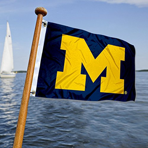 College Flags and Banners Co. University of Michigan Golf Cart and Boat Flag