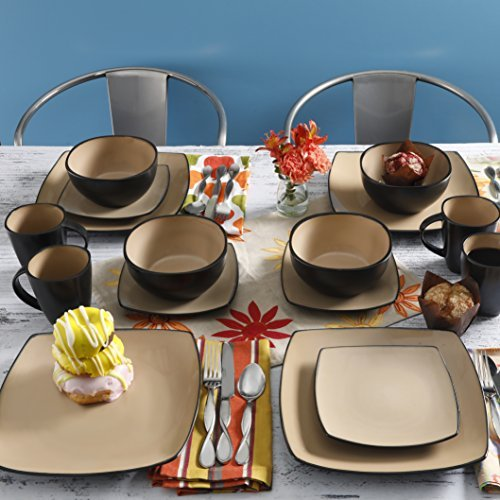 16 Piece Dinnerware Set By Gibson Home. This Soho Lounge Squ