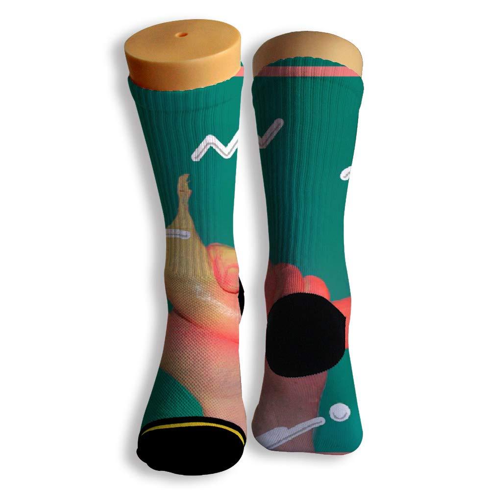 Basketball Soccer Baseball Socks by Potooy Hold The Banana 3D Print Cushion Athletic Crew Socks for Men Women