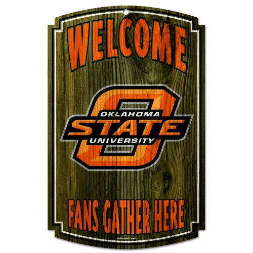 NCAA Oklahoma State Cowboys 11-by-17 Wood Sign