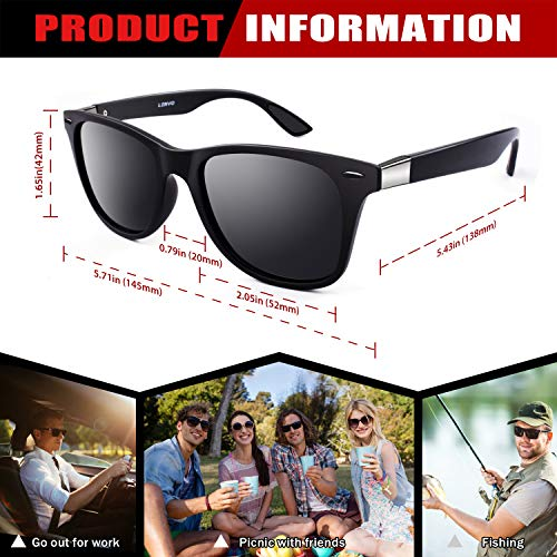 GQUEEN Classic Horn Rimmed Semi Rimless Polarized Sunglasses for Men Women GQO6