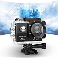 PNBOO PA-30 170 Degree Wide-Angle 4K 30fps 16MP Waterproof Action Camera with 2.0 Inch HD Ultra Display with Sony Sensor and WIFI (Black)