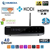 [BoLv] HIMEDIA Q10PRO 4K Media player Android 5.1 Smart TV Box(4K Ultra HD up to 60fps incl.Dolby Vision/HDR/10-Bit/H.265, Support 7.1 HD-Audio. HDMI, Gigabit-LAN, Dualband WiFi, Bluetooth, USB3.0)