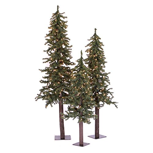 Natural Alpine Trees, 2' 3' 4', Green - Unlit