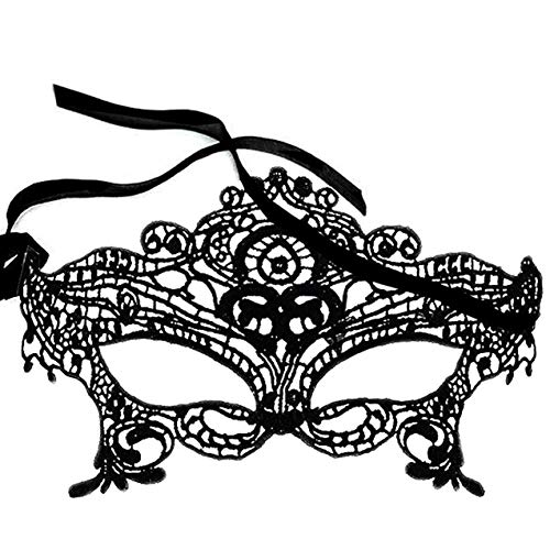 Sexy Girl Lace Eye Mask for Masquerade Party Fancy Dress Black