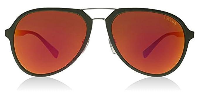 a59116f481d9a ... australia prada sport 05rs ufi5m0 green rubber 05rs aviator sunglasses  lens category 3 le 30d53 44f8d