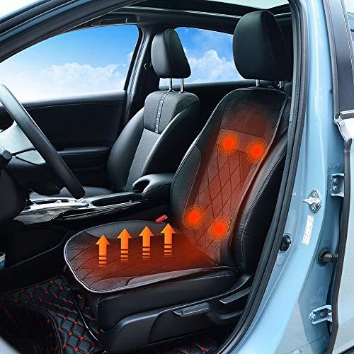 JSCARLIFE Universele Autostoel Heater 12 Volt Verwarmde Autostoel Cover Verwarmd Pad voor Links en Rechts Drivers, Back…