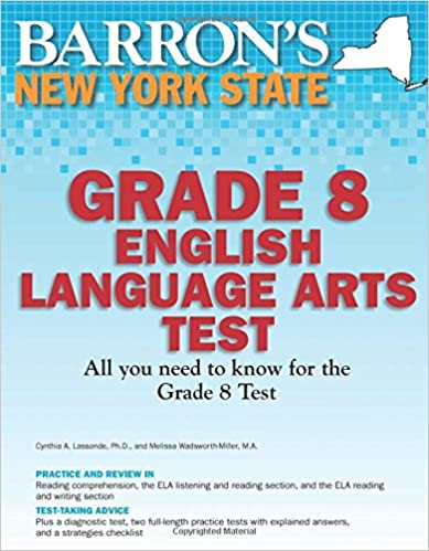 Barron's New York State Grade 8 English Language Arts Test ...