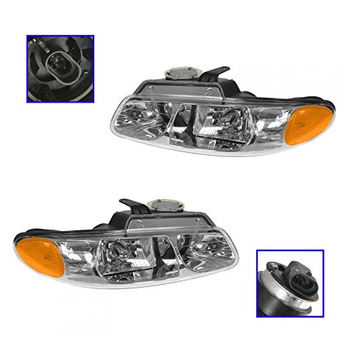(Quad Headlights Headlamps Left & Right Pair Set for Grand Caravan)