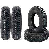 Autoforever Set of 4 Radial Trailer Tires ST225/75R15 10 Ply Load Range E 2257515 22575R15