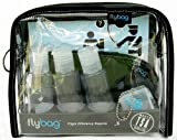 Flybags - Clear TSA Compliant Toiletry Bag with Gray Stitching