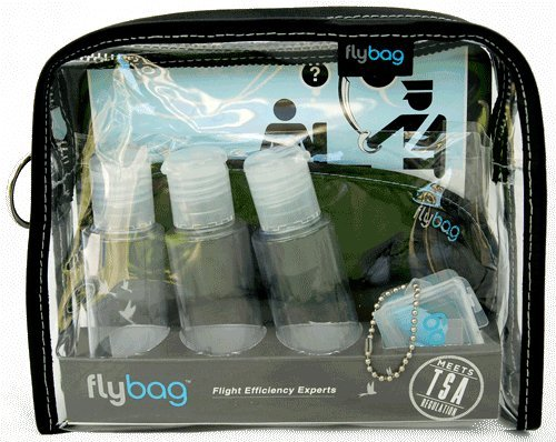 Flybags – TSA Compliant Toiletry Bag with Gray Stitching, Bags Central