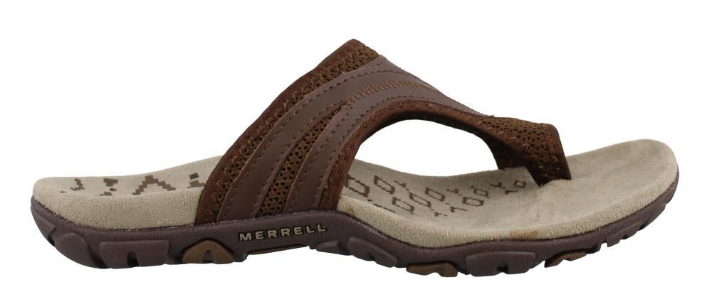 Merrell Women's, Sandspur Delta Flip Thong Sandals Brown 9 M