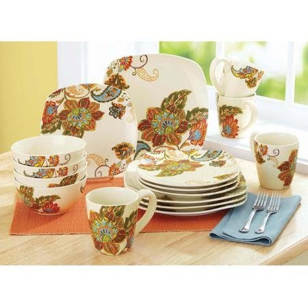 16-Piece Beautiful Floral Motif Floral, Spray Dinnerware Set