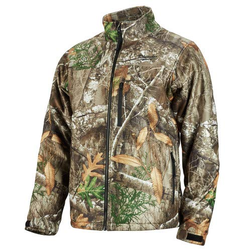 Milwaukee Heated Jacket KIT M12 12V Lithium-Ion Front and Back Heat Zones - Battery and Charger Included - (Large, RealTree Camo)