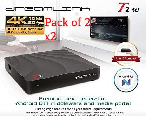 { Package of 2 } Dreamlink T2w T2 w Android 7 OS *BUILTIN WiFi