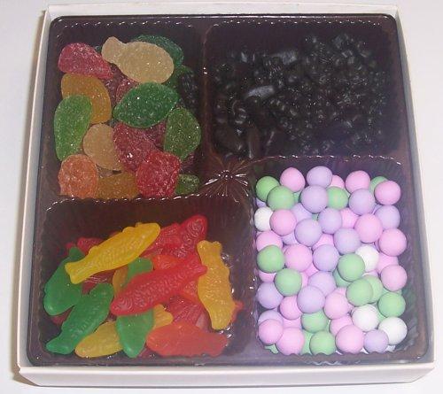 Scott's Cakes Large 4-Pack Chocolate Dutch Mints, Pectin Fruit Gels, Swedish Fish & Black Licorice Bears