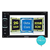EinCar 6.2 Inch Car Stereo 2GB 32GB Android 5.1 Head Unit Double Din Touch Screen Radio Auto DVD Player Car Audio In Dash GPS Navigation with Bluetooth WiFi Mirroring + External Microphone