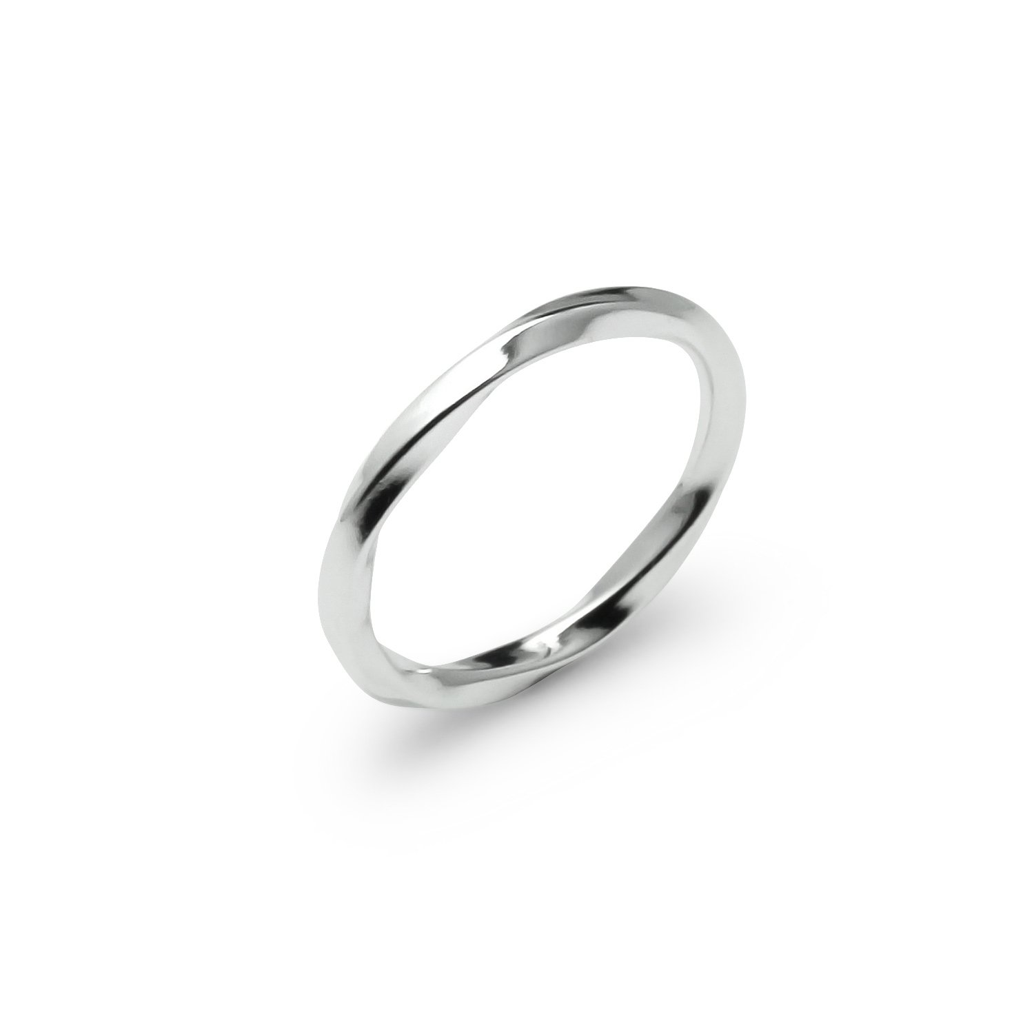 River Island Jewelry - 925 Sterling Silver Light Weight Twisted Wedding Band Ring