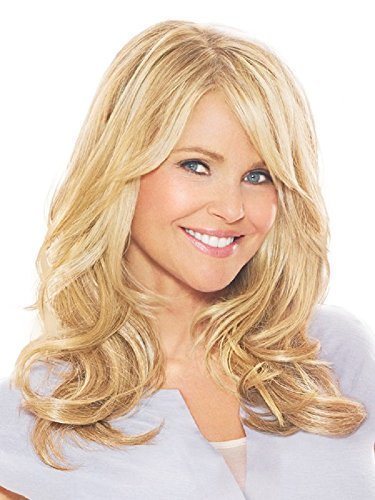 16 Clip On Hair Extensions Color HT14/88H Light Blonde - Christie Brinkley Heat Resistant Wavy Curl Texture Excelle Synthetic Lightweight Fiber