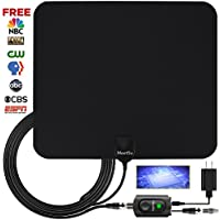 TV antennas, HD Digital TV Antenna Kit High-Definition, Best 50+ Miles Long Range with HDTV Amplifier Signal Booster for Indoor, HDTV antenna Updated Version Better Reception of Signal