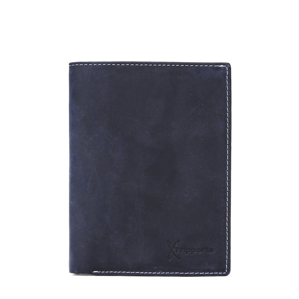 Tripporte Genuine Leather RFID Blocking Passport Wallet Featuring Multiple Credit Card Slits and a Huge Multipurpose Large Pocket