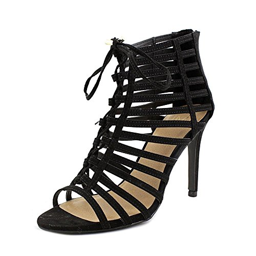 80s Material Girl Material Girl Womens Raquel Open Toe Special Occasion Strappy Sandals Black 1O4FQQa