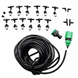 1 Sets Fog Nozzles irrigation system Portable Misting Automatic Watering 10m Garden hose Spray head with 4/7mm tee and connector