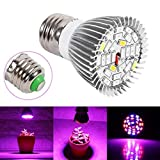 indoor grow light bulb - 28 LED 28W E27 Grow Light Lamp Veg Flower Indoor Hydroponic Plant Full Spectrum ,Tuscom (#1)