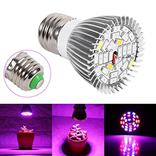 - 28 LED 28W E27 Grow Light Lamp Veg Flower Indoor Hydroponic Plant Full Spectrum ,Tuscom (#1)