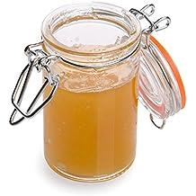 Clamp Lid Mason Jar - Mason Jars with Trigger Lid - Store liquids or dry goods, Serve Desserts, Drinks or Appetizers - 3.4 oz - 10ct Box - Restaurantware